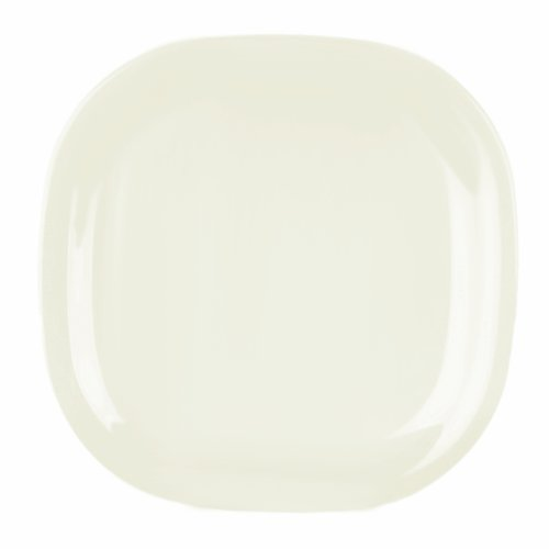 Excellanté Royal Pearl Collection 14 By 14-Inch Round Square Plate, Royal Pearl