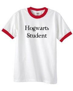 S.Horizon-Hogwarts Student Ringer T-Shirt~White/Red~Adult-Sm