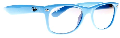 Ray Ban Unisex Rb2132 New Wayfarer Fluorescent Light Blue Frame Sunglasses