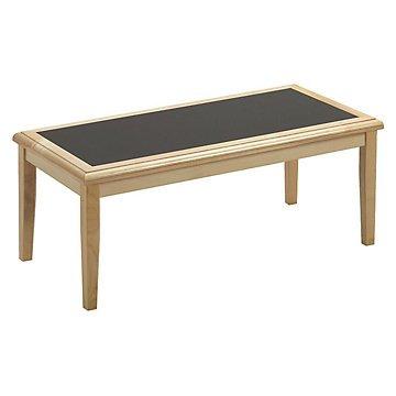 Coffee Table with Laminate Inlay (Charcoal Inlay/ Medium Finish)