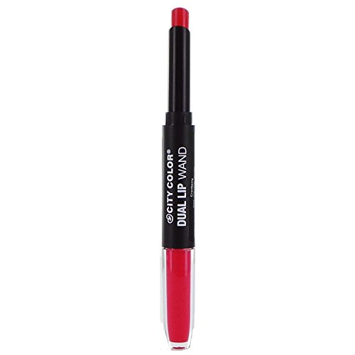CITY COLOR Dual Lip Wand 2 in 1 Lipstik and Lip Gloss Cranberry