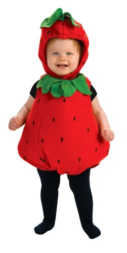 Rubie'S Costume Newborn Deluxe Berry Cute Costume, Red/Green, Infant front-519535