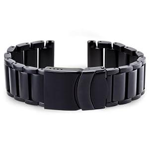Black Bracelet Steel Band for Luminox 22mm 8400 Series Black Ops Watches