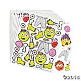 Fun Express Zombie Foam Self Adhesive Shapes (Pack 250)