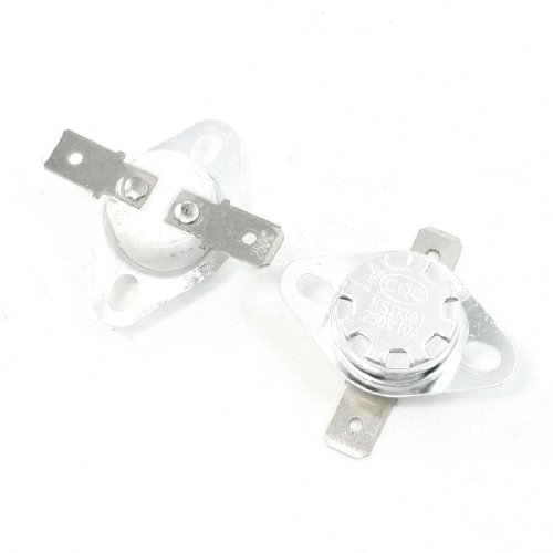 2 Pcs 250C Celsius Nc 2 Flat Pin Ksd301 Model Ceramic Thermostat 10 Amp Ac 250V