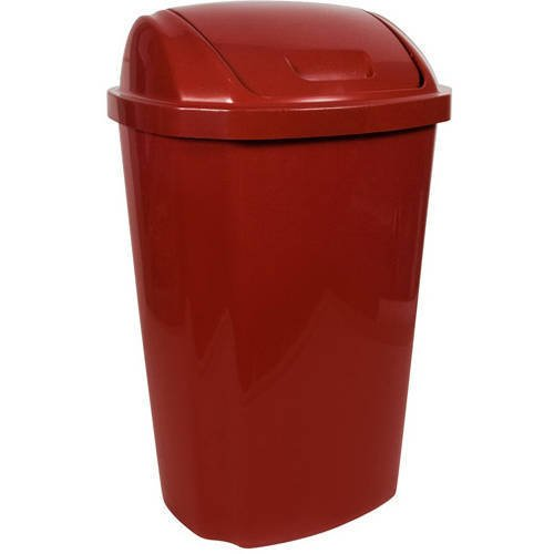 Hefty 13.5 Gallon Swing Lid Trash Can, Red (Tall Trash Cans With Lids compare prices)