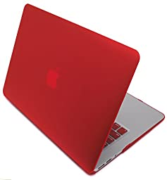 Bastex - Hard Red Shell Snap On Case Cover + Matching Keyboard Skin Exclusively for MacBook Pro 13\