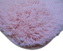 College Plush Rug 5' X 8' Baby Pink
