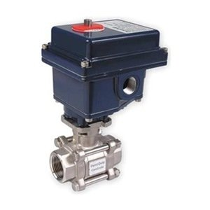 Ball Valve, Electric, 3/4 In Npt, Ss