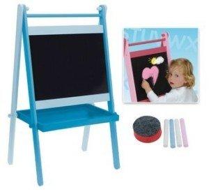 modele bleu tableau noir ardoise pour dessin enfant avec craies et eponge bleu jeux. Black Bedroom Furniture Sets. Home Design Ideas