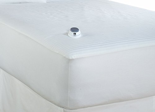 For Sale! Serta 233-Thread Count Waterproof Low-Voltage Electric Heated Queen Mattress Pad, White