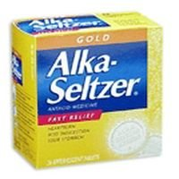Alka-Seltzer antacid relief, aspirin free, gold effervescent tablets - 36 ea Get Rabate