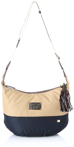 La Bagagerie Women's Cassis Cross-Body Bag Black Noir (Beige/Noir) Taille Unique
