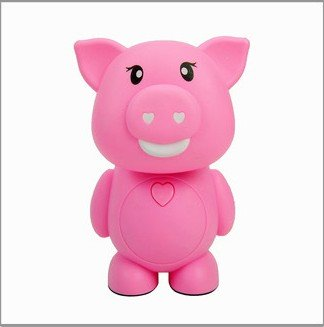 Cartoon Lovely Pig 16 Led Folding Table Lamp Personalized Bedroom Bedside Lamp Energy Saving Lamp Desk Lamp Reading Lamp Rechargeable Nigh Lamp Lovely Kid'S Night Light Eye Protection Lamp Home Decoration Lights(Pink)