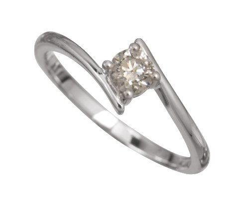 18ct White Gold Diamond Engagement Ring With Certified Round Brilliant Diamond Solitaire, 1/4 Carat Diamond Weight