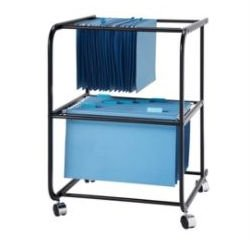 BASKI Two Tier File Mobile Cart 445-020 Compare Office Depot