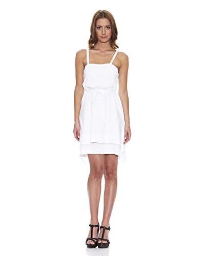 Peace & Love Vestido Liso Blanco