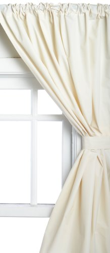 "Carnation Home Fashions Vinyl Bathroom Window Curtain, Bone, 45"" X 36"" front-878685"