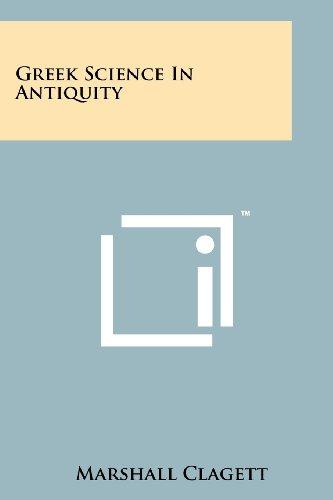 Greek Science In Antiquity