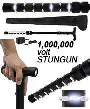 Walking Cane/Flashlight, 1,000,000 Volts, w/Case
