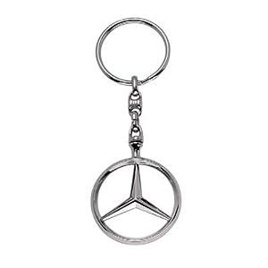 Mercedes Benz 3d Chrome Star Logo Brussels Key Chain by Mercedes-Benz