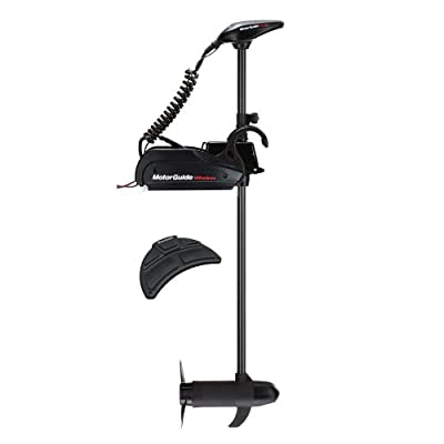 1 - MotorGuide Wireless W45 Freshwater Bow Mount Trolling Motor - Wireless Foot Pedal - 12v-45lb-48""