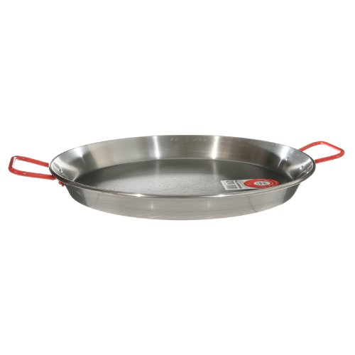 Garcima 22-Inch Carbon Steel Paella Pan, 55cm (Large Paella Pan compare prices)