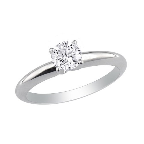 1/4ct Diamond Engagement Ring in 10K White Gold (J/K I2 sizes 4-9)