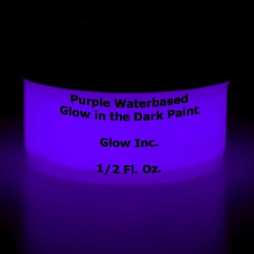 Purple Glow in the Dark Paint 1/2 Fluid Ounce