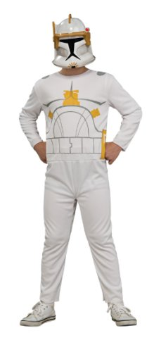 Star Wars The Clone Wars Commander Cody Action Suit Costume, Child Size 8 to 10