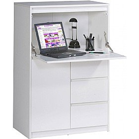 Fendi hideaway home office computer desk for Hideaway home office