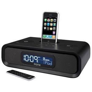 iHome iP99BR Dual Alarm Clock Radio with Dock for iPod, iPhone (Black)