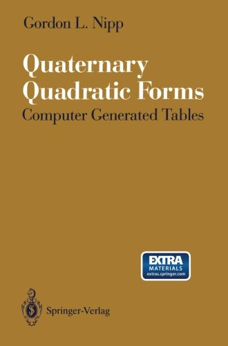 Quaternary Quadratic Forms: Computer Generated Tables