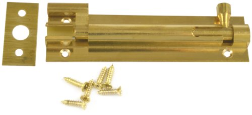 Bulk Hardware 100mm Swan Neck Door Bolt - Brass