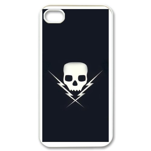 Personalized custom iPhone 4 4s Design your own cell Phone Case skull logo