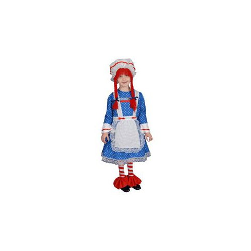 Pretend Rag Doll Girl Child Costume Dress-Up Set Size 16-18