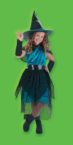 Costumes For All Occasions DG2210L Witch Turqus Midnight 4 To 6