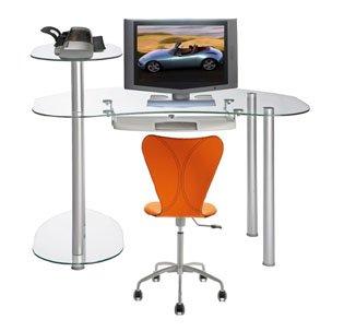Buy Low Price Comfortable Clear Laptop or Computer Desk (B001YKJIJO)