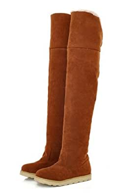 Autumn Winter New Boots Snow Boots Tall Canister Martin boots, Thick Bottom Shoes Knee-High Boots Female Boots Size 6.5
