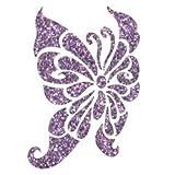 Total Glitter Temporary Tattoos, 15 Beautiful Glitter Tattoo Sheets, Purple, Blue, Gold, Red