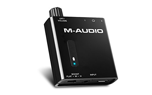 Find Bargain M-Audio Bass Traveler Portable Powered Headphone Amplifier with Dual Outputs and 2-Leve...