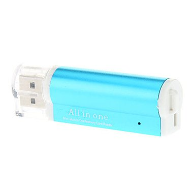 Zcl All In One Usb 2.0 Memory Card Reader (Assorted Colors) , Blue
