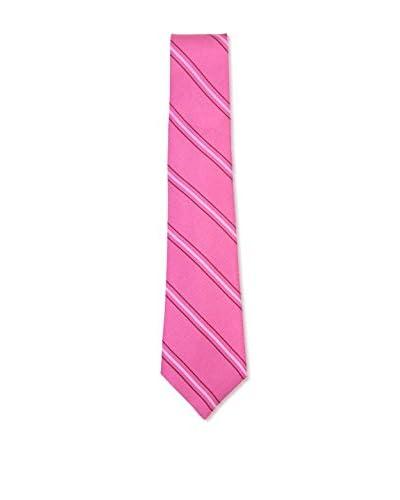 Kiton Men's Diagonal Striped Tie, Pink
