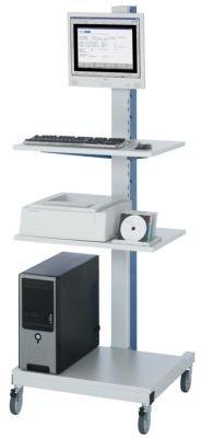 RAU Poste pour ordinateur - passage de câbles avec bloc 4 prises intégré mobile - armoire informatique armoire pour ordinateur armoires informatiques armoires pour ordinateur meubles informatiques mobilier informatique poste de travail