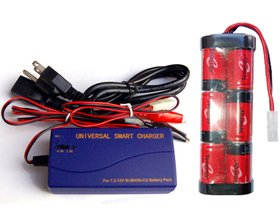 7.2 Volt 4200 Mah Nimh Battery Pack Universal Smart Charger