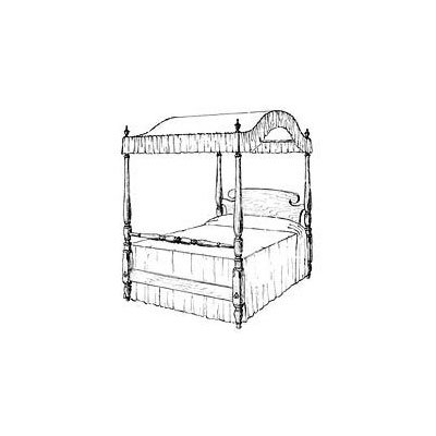 Canopy Bed Plan (Woodworking Project Paper Plan)