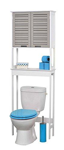 badezimmerregal f r ber die toilette 2 t ren und 1. Black Bedroom Furniture Sets. Home Design Ideas