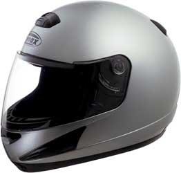 G-Max Gm38 Solid Helmet , Size: Xs, Primary Color: Silver, Distinct Name: Dark Silver Metallic, Helmet Type: Full-Face Helmets, Helmet Category: Street, Gender: Mens/Unisex 138193