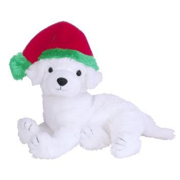 TY Beanie Baby - TINSEL the Dog (BBOM December 2003)