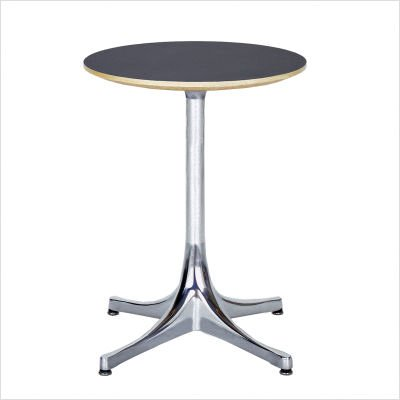 "Nelson End Table Size: 21.5"" High x 17"" Diameter, Base: Black, Top: Inner Tone"